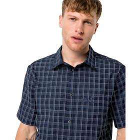 Jack Wolfskin Hot Springs SS Shirt Men night blue checks